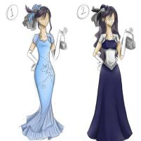 I drew gowns o3o by synthelle