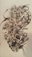 Half sleeve tattoo design by Jacquelyntrowell