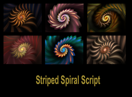 Striped Spiral Script by Kabuchan