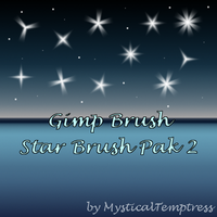 Gimp Brush Star Brush Pak 2 by MysticalTemptress