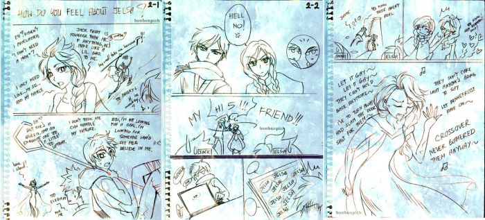 ROTG - Short FanComic CrossOver with Frozen by BonBonPich