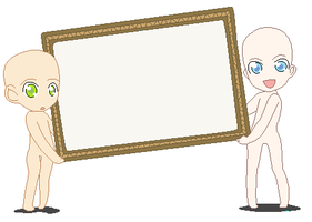 BASE___Sign_holder_chibis by Base-All
