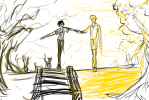 October 25, 2014- Solangelo doodle by maddy-mo