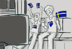 Eurovision - meanwhile, in Stockholm... by pixie-rings