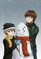 Picasso Snowman by hokuto