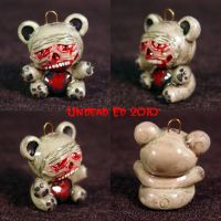 Zombie Bear Charm ooak may by Undead-Art