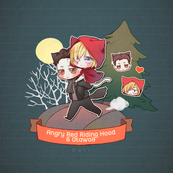 Angry Red Riding Hood 'n Otawolf by Beii-ac