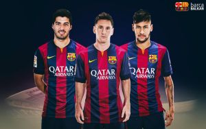 Suarez Messi Neymar - HD wallpaper 2015 by SelvedinFCB