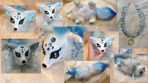 Arctic Queen Fox Doll by Eviecats