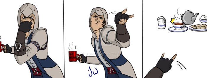 Connor vs tea by aurigale