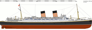 Mauretania in White Star colors by 121199