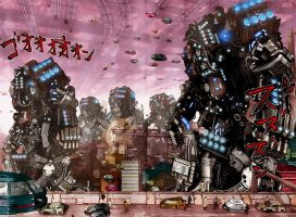 GANTZ 353 p08-09 Mecha by BrkHeaven