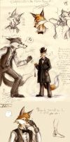 Maitre renard - sketches by Kawanai