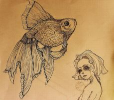Veiled Goldfish detail (fish) by WickedHearts4Lyph