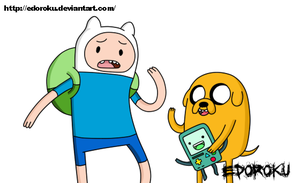AT- Finn, Jake and BMO by EdoRoku