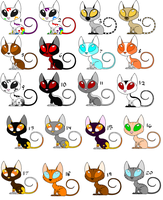 Free Kat Adopts 6 CLOSED by sam-speed