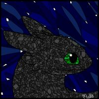 Toothless Mosaic by MegzWills