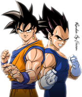 Render de Goku Y Vegeta by PauloEditions
