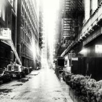 Alley in Chicago (Black and White edition) by marc-the-kid