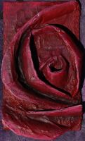 GCSE relief rose, in red by KidnapTheSandyClaws