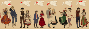 HetaEst: Folk costumes by StarlitHoliday