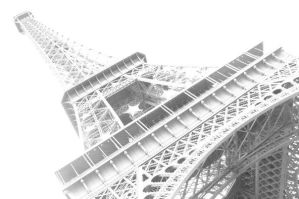 Eiffel Tower Black and White by MrSultan531