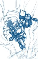 Daily Sketch Challenge 12-20-12: Thor by SkipperWing