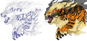the mighty Arcanine by TheLaughingChimera