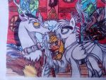 MLP-Lord shen pony and Discord by pollito15