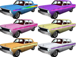 MLP Colored '64 Ford Falcons by DaAfroMan