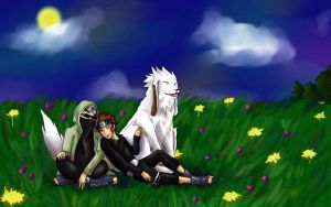 Aburame Shino and Inuzuka Kiba by cat-breath