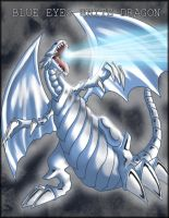 Blue Eyes White Dragon by Detrah