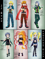 JJ-boys and Powerpunk girls design by BiPinkBunny