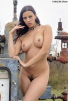 Kerri T at the gas well by rp-photo
