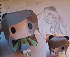 My OC Magnolia Papercraft Completed! by MaggiiSpacePanda