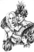 Enjolras and Courfeyrac genderswitch by ColonelDespard