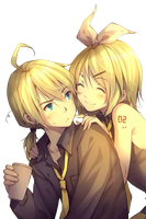 Kagamine Len and Rin Render by KiritoWaifu