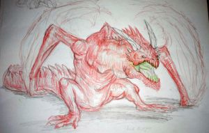 Red dragon(work in progress) by WhiteRose2132