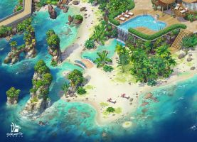 Tropical Island 4 by Grafit-art