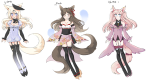 Fox kemonomimi adopt set CLOSED by carcaradopts