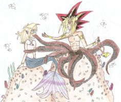 Mermaid meets Yami the Octopus by YamiSorceress