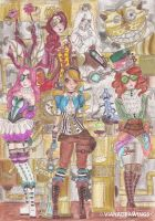 Alice in Wonderland Steampunk by VianaDrawings