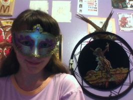Me in my masquraid mask by GolfingQueen