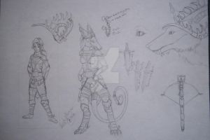 Abbie Gale Lynn, Anthro and Human sketch ref by Frost-Fire-Kruger