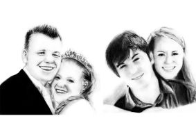 Couples Pencil Portraits by slippy88