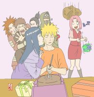 Happy Birthday Naruto Colored by formadmenonly