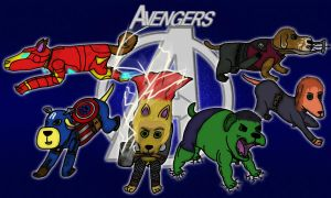 Avengers- Dog Form by Dogtorwho