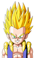 Gotenks Face by maffo1989