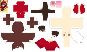 Hetalia Papercraft 2p! Fem China by SumatraDjVero