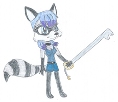Arianna the Raccoon 2 by KendraTheShinyEevee